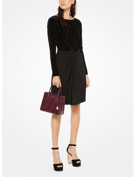 Velvet Matte Jersey Dress by Michael Michael Kors