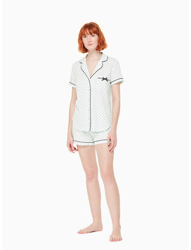 Mint Dot Short Pj Set by Kate Spade