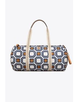 Printed Nylon Duffel by Tory Burch