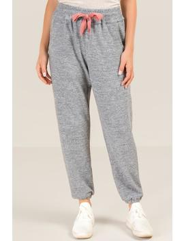 Lenny Lounge Tie Front Jogger by Francesca's