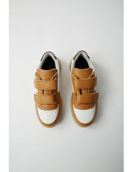Branded Velcro Sneakers White/Ecru by Acne Studios