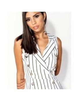 Striped Blazer Dress by Fashion Drug