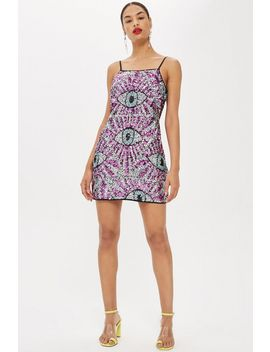 All Over Sequin Eye Dress By Moon Dreamers by Topshop