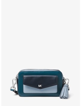 Small Tri Color Leather Camera Bag by Michael Michael Kors