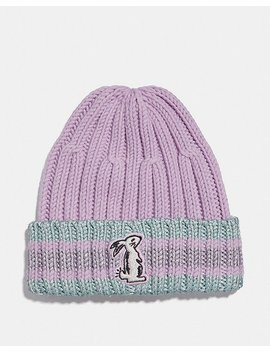 Selena Knit Hat With Bunny by Coach