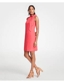Tie Neck Sheath Dress by Ann Taylor