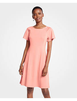 Short Sleeve Flare Dress by Ann Taylor