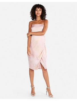 Shimmering Side Slit Strapless Dress by Express