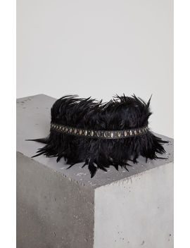 Faux Leather Feather Belt by Bcbgmaxazria