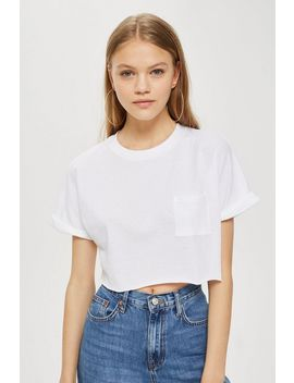 Tall Sewn Off Cropped T Shirt by Topshop