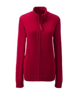 Women's Zip Front Drifter Cardigan by Lands' End
