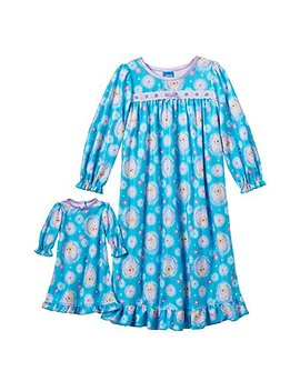 Disney's Frozen Nightgown & Matching Doll Gown Set  Toddler by Disney