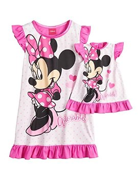 Disney's Minnie Mouse Adorable Dorm Nightgown & Doll Nightgown   Girls by Ame