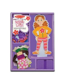 Melissa & Doug Maggie Leigh Magnetic Wooden Dress Up Doll Pretend Play Set (25+ Pcs) by Melissa & Doug