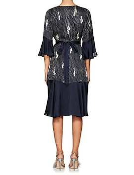 Dot &Amp; Floral Crepe Wrap Dress by By Ti Mo