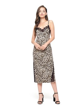 Leopard Duchess Satin Slip Dress by Juicy Couture