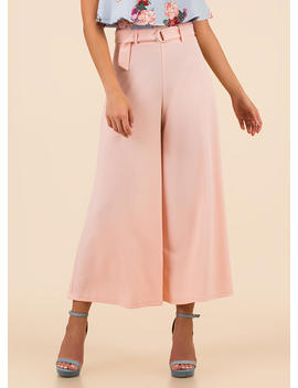 Wide Turn Flared Palazzo Pants by Go Jane