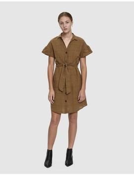 Veronica Grid Print Dress by Farrow