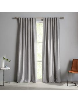 Crossweave Curtain   Stone White by West Elm