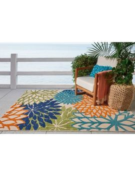 Nourison Aloha Indoor/Outdoor Multicolor Rug by Nourison