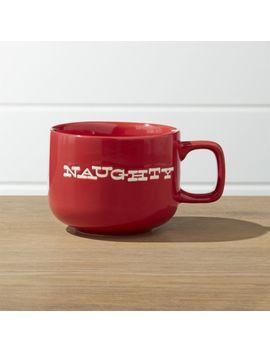 Naughty/Nice Mug by Crate&Barrel
