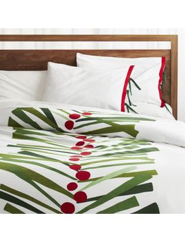 Pine Berry Duvet Covers And Pillow Shams by Crate&Barrel