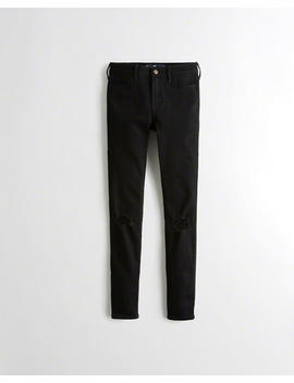 Classic Stretch Mid Rise Super Skinny Jeans by Hollister