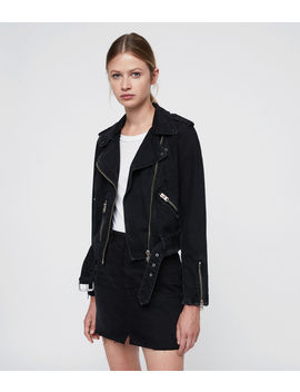 Balfern Denim Biker Jacket by Allsaints