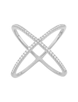 Cubic Zirconia Sterling Silver X Ring by Kohl's