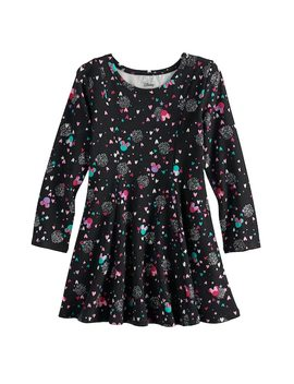 Disney's Minnie Mouse Toddler Girl Princess Seam Glitter Heart Printed Dress By Jumping Beans® by Disney's Minnie Mouse Toddler Girl Princess Seam Glitter Heart Printed Dress By Jumping Beans