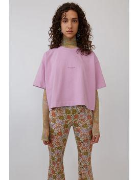 Gecropptes T Shirt Bonbonrosa by Acne Studios