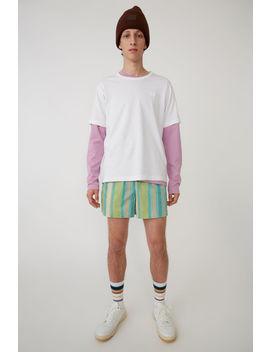 T Shirt Mit Kurzem Ärmel Optisches Weiß by Acne Studios
