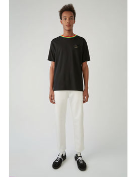 T Shirt In Normaler Passform Schwarz by Acne Studios