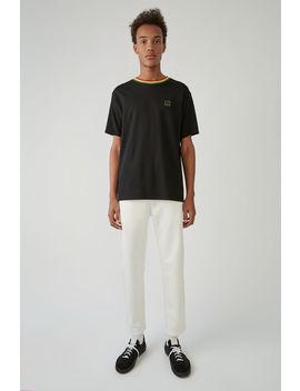 T Shirt In Normaler Passform Schwarz by Acne Studios