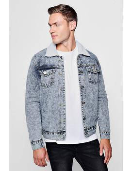 Veste En Denim à Doublure Mouton by Boohoo