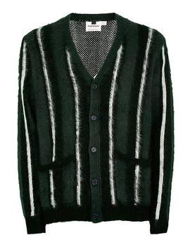 Green Stripe Brushed Cardigan by Topman