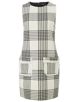 Cream Checked Shift Dress by Dorothy Perkins