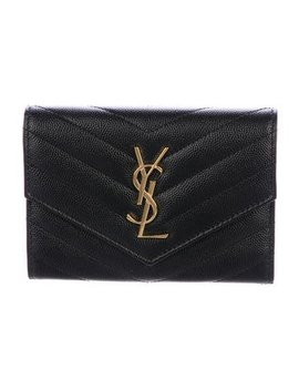 Saint Laurent Small Monogram Envelope Wallet  by The Real Real