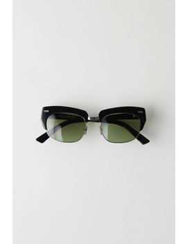 Half Frame Eyewear Black/Green by Acne Studios