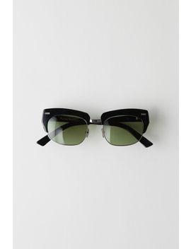 Half Frame Eyewear Black/Green by Acne Studios