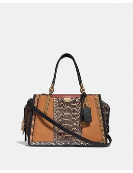 Dreamer In Colorblock With Snakeskin Detail by Coach