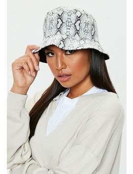 Snake Print Bucket Hat by Missguided