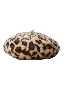 Leopard Beret Hat by Charlotte Russe