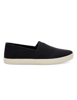 Black Linen Men's Avalon by Toms