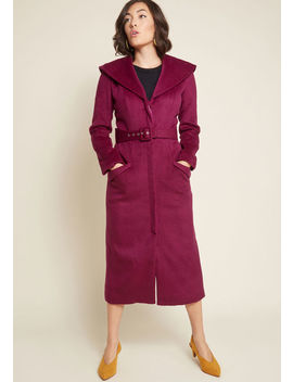 Citywide Splendor Belted Coat by Collectif