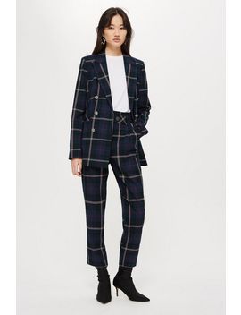 Check Belted Trousers by Topshop