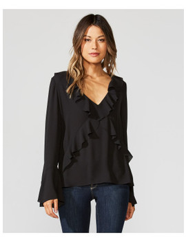 Nugget Ruffled Georgette Top by Bailey44