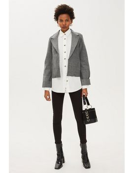 Cropped Jersey Blazer by Topshop