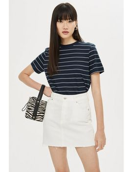 **Thin Stripe T Shirt By Selected Femme by Topshop