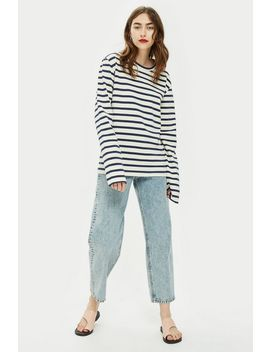 **Breton Stripe Long Sleeve T Shirt By Community Clothing by Topshop